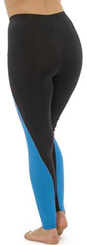 Tom Franks - Pantalon de sport - Leggings - Femme Bleu - Black-Blue