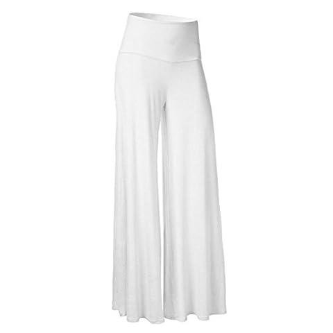Jamicy Sexy Women Leggings High Waist Bloomers Yoga Dance Full Plus Size Pants (3XL, White)