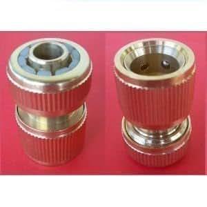 """Schlauchstück Messing mit Wasserstop 12,7 mm (1/2"""") Gardena kompatibel"""