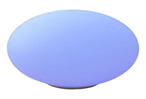 Telefunken Solar Oval 30 Gartenleuchte, Ellipse 35 cm, mit sanftem Farbwechsel, sehr hell mit 1,2W, nachhaltig durch austauschbare Akkus, hohe Ladeleistung von 1,5W, wasserdicht