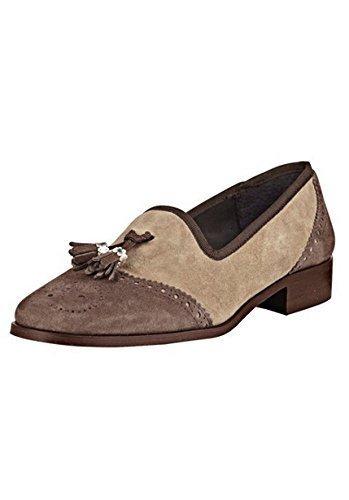 Pantofole In Pelle Scamosciata Di Bc Taupe