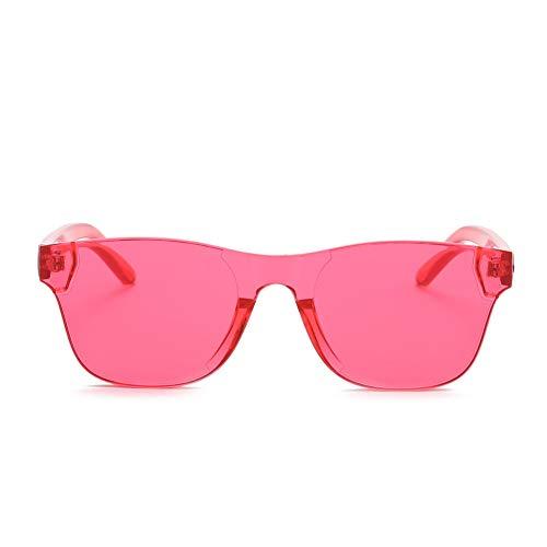 CCGSDJ Bunte Quadratische Sonnenbrille Männer 90 S Brillen Randlose Sonnenbrille Für Frauen Siamese Candy Sonnenbrille Frameless Eyewear