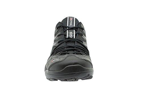 Kefas - Scarpe da Nordic walking e Outdoor Uomo Donna 3263 Falcon, Pelle sintetica + Mesh, Suola Vibram Gomma Eva Nero - Silver