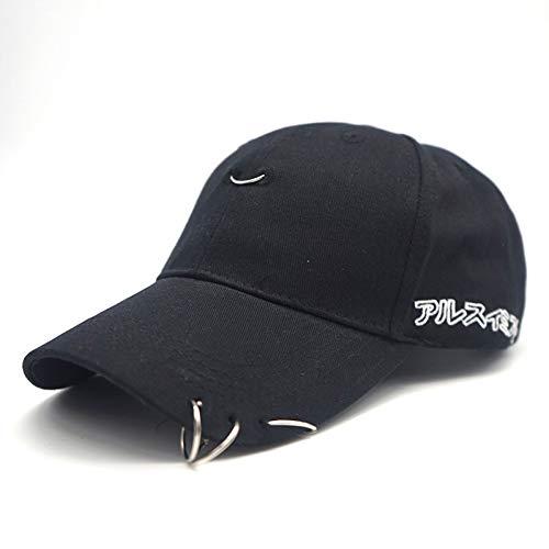 FXSYL Baseball Cap Mode brosche Eisen Ring baseballmütze Unisex einfache Kappe Alphabet,C1