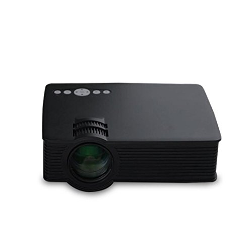 Mini Proyector - Kingwo 1080P HD LED Inicio MultiMedia Center Cine TV USB VGA SD Mini Proyector HDMI