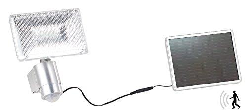 Luminea Solar Fluter: Solar-LED-Strahler aus Aluminium mit PIR-Sensor, 10 W, 1.000 lm, IP44 (Solar LED Fluter)