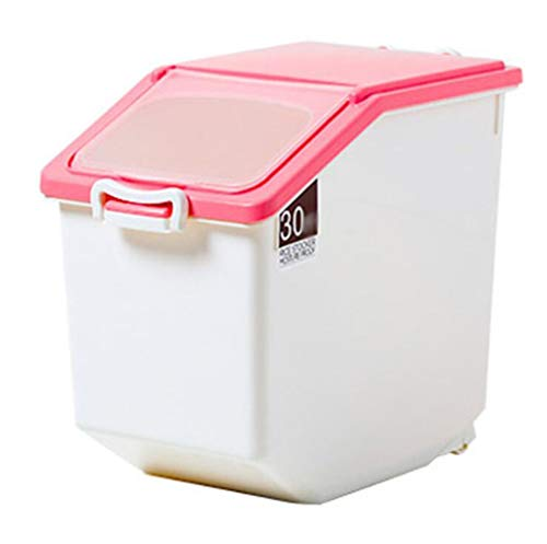 Home Küche Storager Double Sealed Reis Eimer Küche Korntank große Kapazitäts-Reis Barrel Geeignet for Arten der Küche Storage (Color : Pink, Size : 10KG)