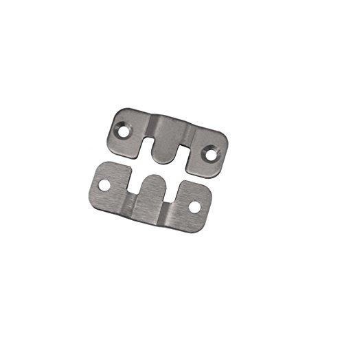 Edelstahl Möbelverbinder Bettverbinder Couchverbinder Metallverbinder Verbinder 43mm