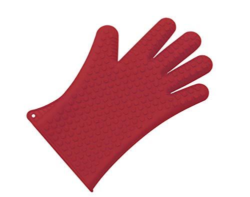 Lacor 60034 - Guante de Silicona 5 dedos, 27 cm, color rojo width=