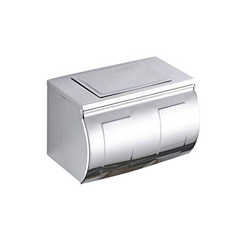 Toilettenpapierhalter Edelstahl wasserdichte Einbau Wandhalterung Mit Abdeckung Und Abnehmbare Regal Rostfreie Badezimmer Toilettenpapierrolle/Tissue Halter