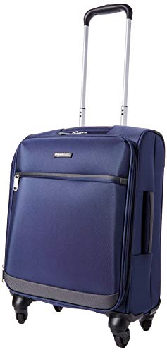 AmazonBasics - Maleta blanda con ruedas giratorias, 54 cm, para equipaje de mano, Azul marino