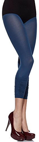 Merry Style Damen mikrofaser capri Leggings MS 135 50 DEN Ink