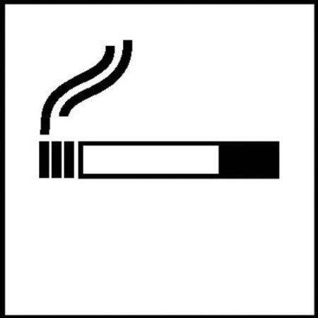 Symbolschilder zur Raumkennzeichnung selbstklebende Folie 10x10cm - Rauchen gestattet