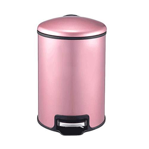 Lamp love Mülleimer Kreativer Edelstahl-Mülleimer, Badezimmer-Küchen-Mülleimer im Pedal-Stil Haushaltsgeräte (Capacity : 7L, Color : Rose Gold) (60 Kuchen-deckel Gold)