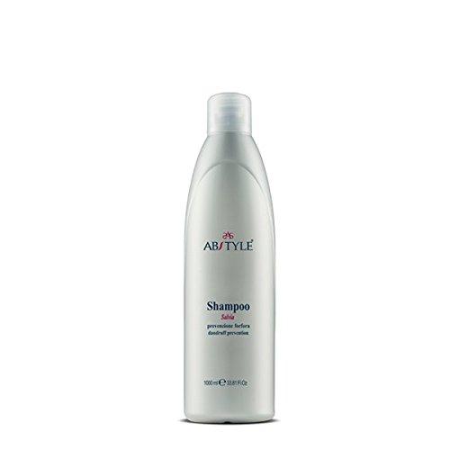 AB Style - Shampoing professionnel anti-pellicules à la sauge, avec protection du cuir chevelu (1 000 ml)