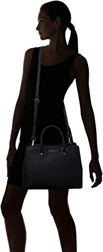 Nuova collezione Borse Donna MICHAEL KORS pre savannah con manici, tracolla removibile, chiusura con zip e due bottoni magnetici, una tasca interna con zip, logo a vista Nero