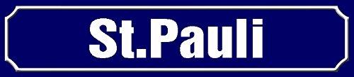 Schatzmix St. Pauli strassenschild Hamburg blechschild 46x10cm
