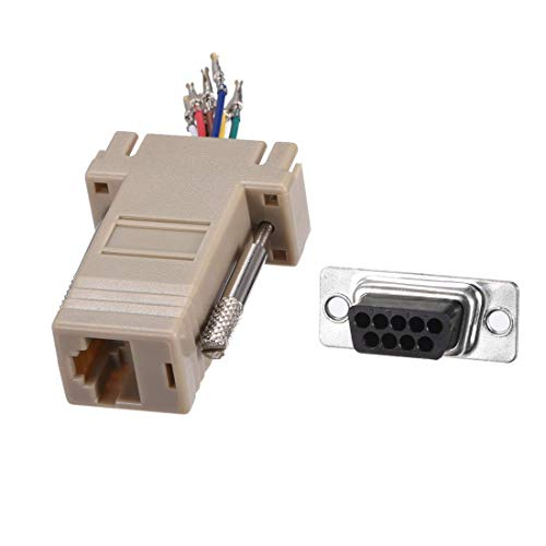 ZCHXD VGA Extender to RJ45 Network Cable Modular Adapter DB9 Female Port to RJ45 Female Enternet for Multimedia Video Beige Pack of 10 - Multimedia-video-tools