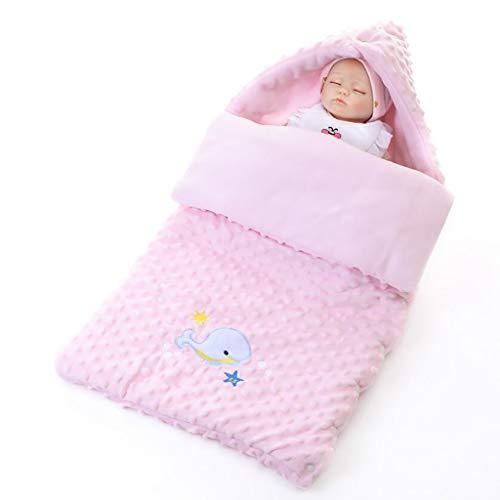 ZLMI Le Sac De Bébé Est L'étreinte De Coton Épaissie Facile pour Nettoyer 0-3 Ans L'automne Et l'hiver,Pink