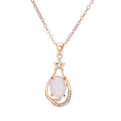 Mode Farbe Silber Halskette Chalcedon Anhänger Weibliche Schlüsselbein Schmuck Großhandel Hetian White Jade Anhänger