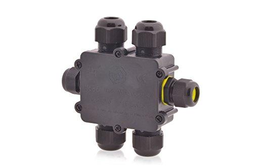 Verteilerdose wasserdicht 24A 450V AC Dosenmuffe Kabelverbinder IP68 Erdkabel 7-polig sechs Öffnungen 4m Wassertiefe geprüft VDE & CE