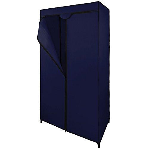 Mobiler Stoffschrank Faltschrank 75 x 50 x 160 cm von BB Sport, Farbe:Brillantblau