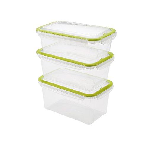 Addis cleanseal rechteckig Lebensmittel frisch Feste hygienischer Versiegelung Container, transparent grün, 50x 29x 34cm Addis Clip