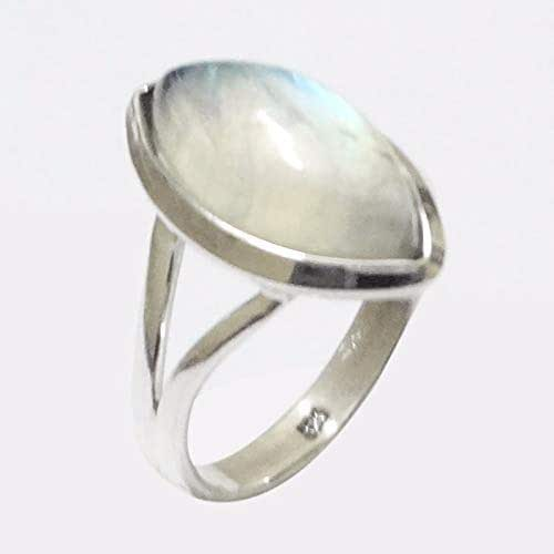 Rainbow Moonstone Designer Solid 925 Sterling Silver Ring Jewelry