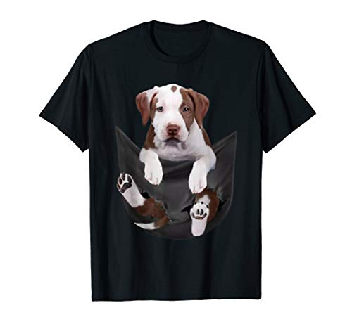 Funny Costume cute dog gift- Pit bull in the pocket t-shirt T-Shirt -