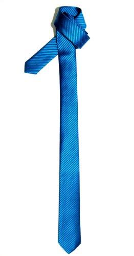 Retreez Herren Schmale Gewebte Krawatte Textur Gestreifte 5 cm - türkis (Gewebte Textur)