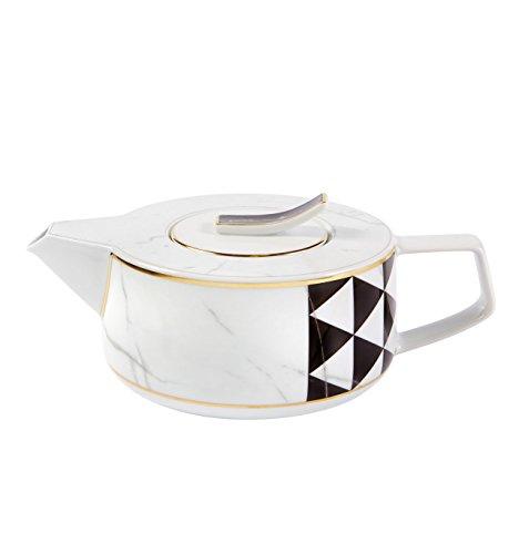 VISTA ALEGRE Portugal - CARRARA (Ref # 21124426) (Designer: Coline Le Corre) - Porzellan Teekanne / Teapot - Kapazität: 1 Lt