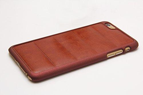 iPhone 6Cas sans protection d'écran en verre, charitik Étui en cuir fin avec film de protection d'écran en verre trempé Cire douce Surface Canapé style marron