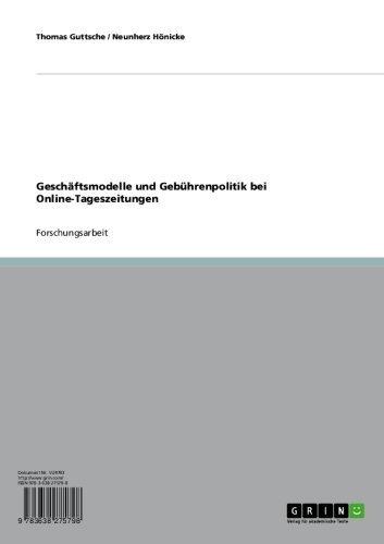 Geschäftsmodelle und Gebührenpolitik bei Online-Tageszeitungen