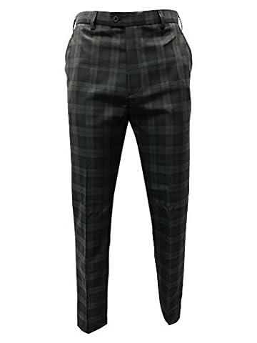 TARTAN TWEEDS - Pantalon - Droit - Homme Vert à carreaux - - 44