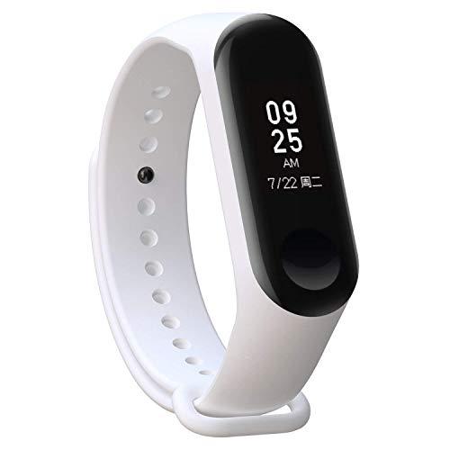 Recambio para Pulsera Actividad XIAOMI MI Band 3 SMARTWATCH MIBAND Correa Reloj (Blanco)