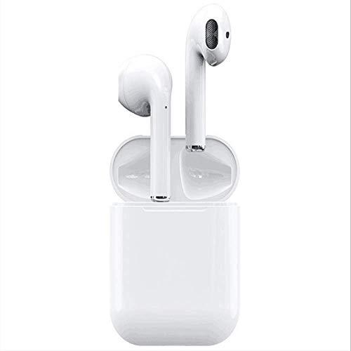 SHENG-E 2019 i12 TWS Bluetooth-Ohrhörer, kabellos, Sport-One Touch 3D Rauschunterdrückung, HD-Stereo-Sound mit Mikrofon und Ladehülle für iPhone, Android, Tablets und Bluetooth