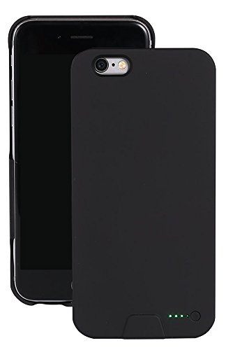 Ultra Fin Coque Batterie Externe Pour iPhone 6/6S Wireless Power étui de chargement - Stacking Power Protection Smart Case - Noir Noir