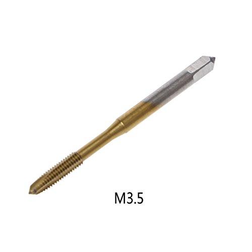 Cuigu Wasserhahn, metrisch, HSS, metrisch, M2,5 M3 M3,5 M4 M5 M6, Gold, M3.5