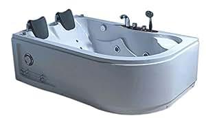 Vasche Da Bagno Idromassaggio : Vasca bagno idromassaggio angolare persone nuova cm