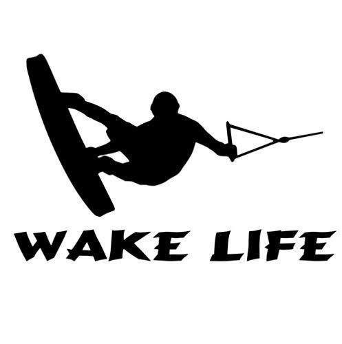 Adesivo per auto Adesivo Decor Adesivo per barca Sci nautico Wakeboard Pesca entrobordo Accessori per decalcomania in vinile 17,8 cm * 11,5 cm 5 pezzi