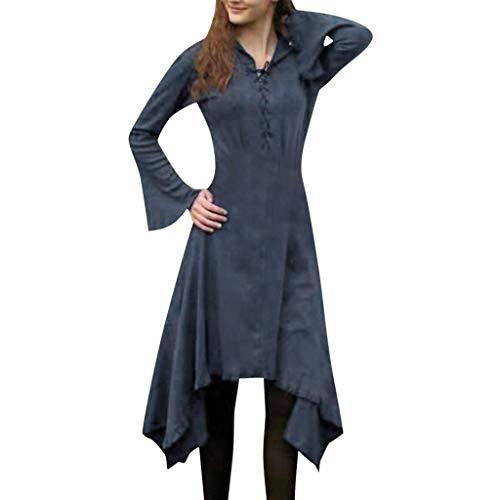 Blau Teufel Maskottchen Kostüm - Lazzboy Damenmode Gothic Style Kleid