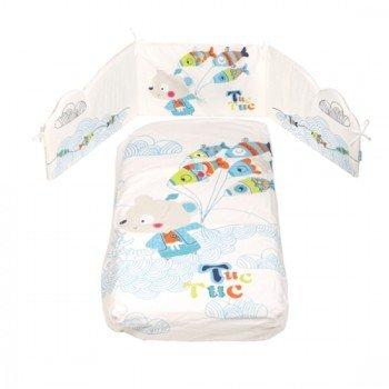 Edredon Desenfundable + Protector de Cuna Niño Kimono