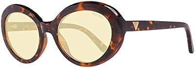 Guess GU7576 52E 55 Monturas de gafas, Marrón (Avana ScuraMarrone), 55.0 Unisex Adulto
