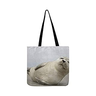 Young Grey Seal Pup Thats Total Canvas Tote Handbag Shoulder Bag Crossbody Bags Purses for Men and Women Shopping Tote