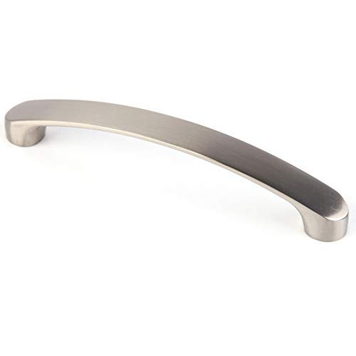ROKFSCL Türgriff-Schrank zieht gebürstetes Nickel-Fach Silber 96/128 / 160MM Aluminium-modernes Schrank(160 mm / 6,3 Zoll) -