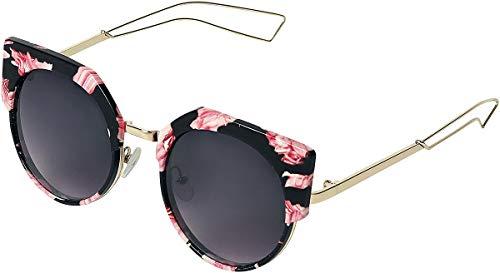 Rock Eyewear Floral Cats Eye Sonnenbrille schwarz