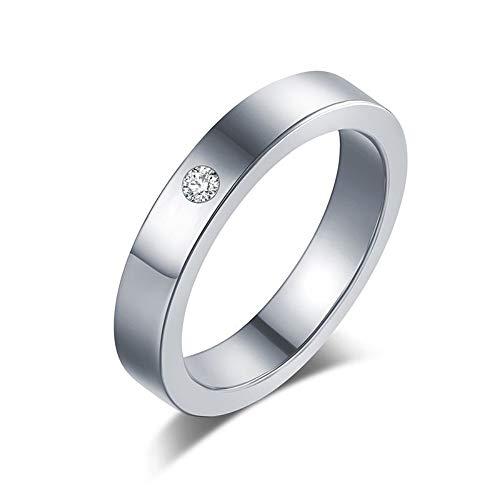 ZHOUYF RING Verlobungsringe Titan Edelstahl Ringe Für Frauen Einfachheit Zirkonia Modeschmuck Großhandel, B, 11#