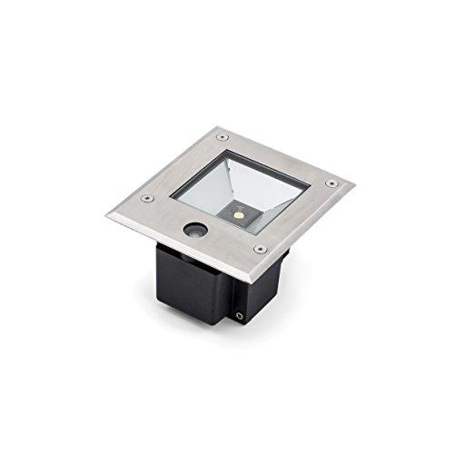 Gnosjö Konstsmide Flut- & Spotbeleuchtung Aluminium Integriert, 6 W, silbergrau 15.5 x 13.5 x 11 cm -