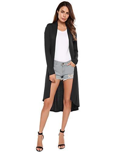 Beyove Damen Strickjacke mit Spitze Offene Cardigan Strickmantel Outwear Langarm Mantel Coat Tops...