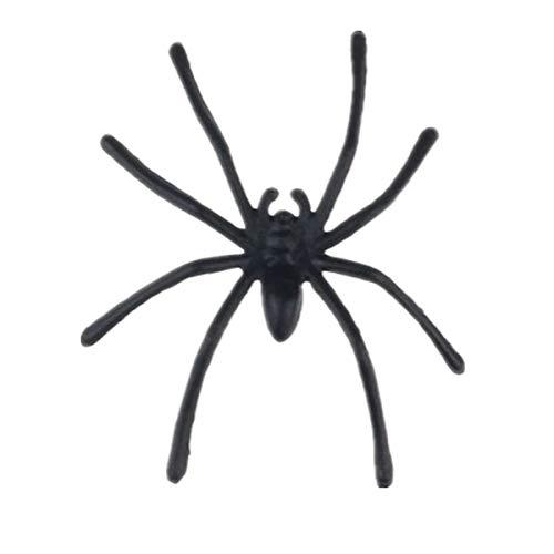 iYmitz 20 Stück Halloween Kunststoff schwarz Spinne Scherzartikel Spielzeug Dekoration realistisch